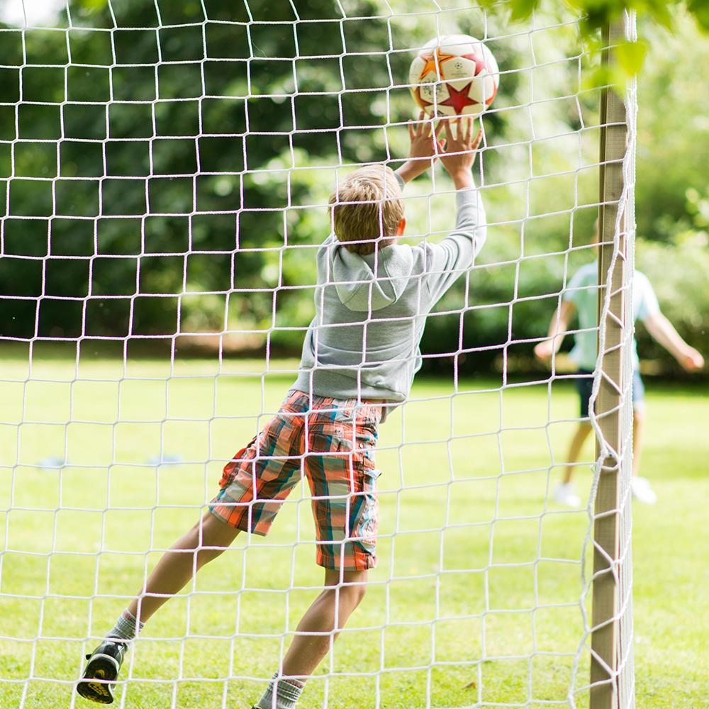 Plum 8x6ft Wooden Football Goal