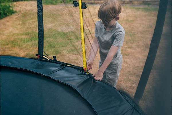 Web Springsafe Trampoline - L shaped Zip