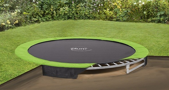 plum in ground trampoline 27557 swing and play. Black Bedroom Furniture Sets. Home Design Ideas