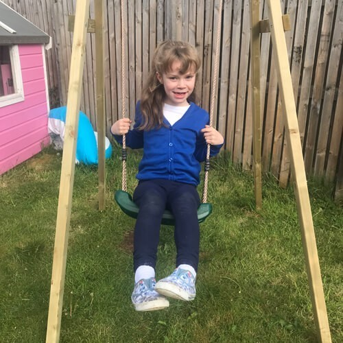 PLUM SINGLE WOODEN SWING