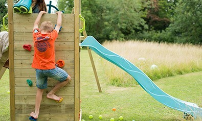 LOOKOUT TOWER WOODEN CLIMBING FRAME WITH SWINGS  3