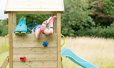 LOOKOUT TOWER WOODEN CLIMBING FRAME WITH SWINGS 6
