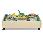 plum play wooden roar-a-saur activity table