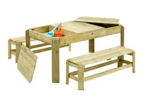 plum play wooden activity table and benches