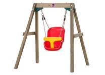 plum play wooden baby swing set
