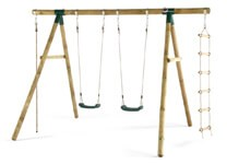plum play wooden gibbon swing set